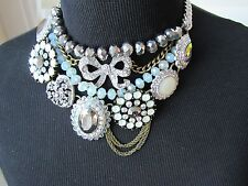 BETSEY JOHNSON WHITEOUT COLLECTION STATEMENT NECKLACE AND EARRINGS