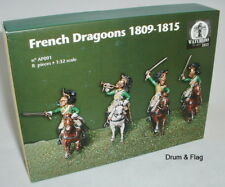 WATERLOO 1815 AP091 NAPOLEONIC FRENCH DRAGOONS (ex-Italeri)  1/32 SCALE FIGURES