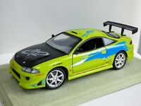 ERTL Fast and Furious Brian O'Connor Mitsubishi Eclipse 1:18 Car Toy Paul Walker