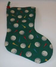 Christmas Golf Ball Tee Quilted Stocking Handmade? Power Shot