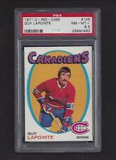 1971 OPC #145 Guy Lapointe HOF PSA 8.5 NM-MT+  Montreal Canadiens Hockey 1971-72