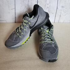 Nike Women's Air Zoom Athletic Running Shoes Size 9.5 Mesh Grey/Neon Green Trim