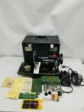 NEAR MINT 1951 SINGER FEATHERWEIGHT 221K 221 SEWING MACHINE CASE SERVICED SUPERB