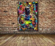 Biggie Smalls Old School Notorious BIG 36x24 Canvas Print HipHop Poster Vector