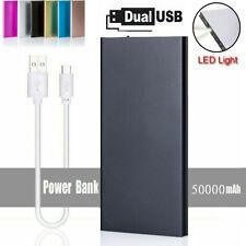 50000mAh Powerbank Externer Batterie Ladegerät Zusatz Akku 2USB für alle Handys