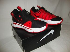 New Boys CD5079-003 Nike PG 4 Basketball Sneakers Shoe Size 4.5 Paul George Red
