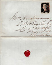 1857 QV COVER WITH A SUPERB 1d PENNY BLACK STAMP PLATE 7 3 MARGINS Cat £800+