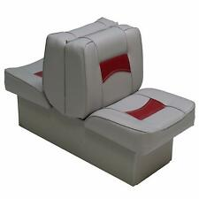 Boat Seat Red & Gray Classic Back To Back Reclining Lounger Boating Seats