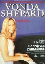 VONDA SHEPARD TOURPOSTER KONZERTPLAKAT TOUR 2002 HANNOVER