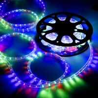 DELight® 50' RGB LED Flex Rope Light In/Outdoor Home Holiday Party Xmas Decor.