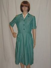 Vintage 1950s Uniform Womens Dress Girl Scouts Document Tags Caprock Tx Small
