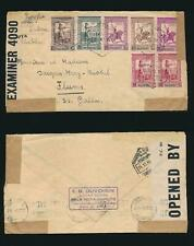 More details for mozambique 1941 censored multi franking to swiss flums via lisbon duvoisin boxed