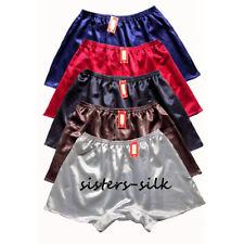 Mens 100% Mulberry Silk Boxer Shorts Active Jogging Shorts Lounge underwear