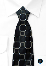 Donald J Trump Signature Collection Embroidered Geometric Power Tie 100% Silk