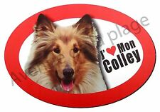"""Magnet chien """"J'aime mon Colley"""" pour frigo / voiture idée cadeau NEUF"""