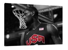 Lebron James 30x20 pouces Toile-NBA encadrée Photo Poster Print