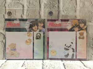 NEW Junjou Romantica Stick Memo Pad Sticky Notes Bookmark 2 Types Official Japan