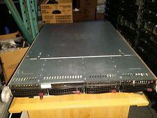 Supermicro 1U Barebone Server Two Heatsink Motherboard X7DBU Two PSU