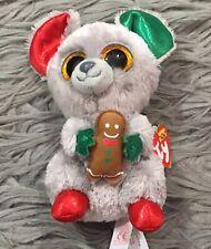 "Ty Beanie Boos - MAC the Christmas Mouse 6"" MWMT"