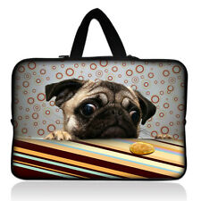 "Pug 11.6"" 12"" Laptop Netbook Notebook Tablet Bag Case Sleeve Cover Pouch"