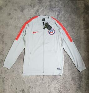 Men's Nike Chile National Football Team Dry Squad Jacket 898785-014 Grey sz M