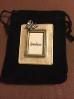 "Jay Strongwater Miniature Butterfly Frame 1 3/4""x2"" Black Velvet Drawstring Bag"