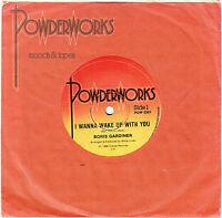 """BORIS GARDINER - I WANNA WAKE UP WITH YOU - 7"""" 45 VINYL RECORD - 1986"""