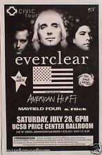 "EVERCLEAR 2001 ""CIVIC TOUR"" SAN DIEGO CONCERT POSTER- ALT ROCK MUSIC,POST GRUNGE"