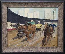 """Horse Race"" by Egor Tolkunov (b.1943), Oil Painting, ca.1970"