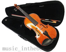 Student Model - New 1/4 Solid Wood Violin +Bow+Rosin+Case+Violin String set