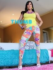 Kendra Lust - 8x6 inch Photograph #047 in Tight Multi Coloured Leggings & Heels