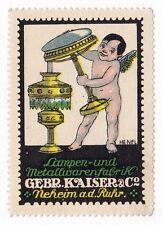 Original Poster stamp Gebruder KAISER Lamps Bauhaus association Germany 1920s
