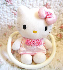 Sanrio Hello Kitty Plush Towel Hanger with Pink Dress from japan Rose Satin