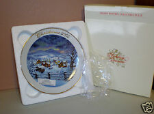 "2002 Avon""Home for the Holidays""Collector Plate-22K Gold Trim-Artist Tom Newsom"