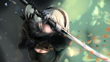 POSTER NIER: AUTOMATA NIER ANDROID YORHA 2B 9S A2 ROBOT GAME GIOCO PS4 FOTO #26