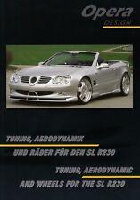 MERCEDES SL r230 opera design Ottica Tuning Aerodinamica KIT prospetto brochure 14