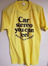 Vintage Pioneer Bodysonic Car Stereo Advertising T-Shirt XL