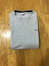 Lacoste Brushed Fleece Crewneck Sweatshirt Mens Gray SZ 5 Large