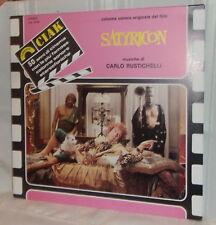 Carlo Rustichelli SATYRICON Italian Film Sound Track Near Mint 1984 LP Stereo