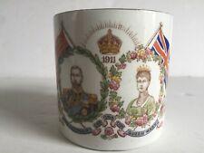 New listing British Royal Commemorative China King George V Queen Mary 1911 Coronation Mug