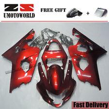 Motorcycle Fairing Kit For Suzuki GSXR600/750 2004-2005 ABS Plastic Bodywork Red