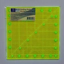 Quilting Ruler ~ 6½  inch Square ~ Non Slip Fluoro