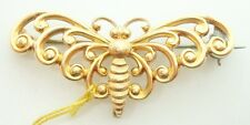 14K Yellow Gold Butterfly / Moth Watch Pin (#2621)