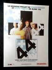 Publicité advert album advertising + 44 2006 Lp when your heart stop...BLINK 182