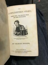 1861 Charles Dickens / LAMPLIGHTER'S STORY The Detective Police 1st Edition Rare