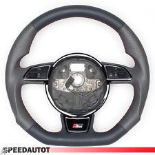 TUNING S-LINE adintelado Gris Volante De Cuero multif. AUDI A3, A4, A5 Volante