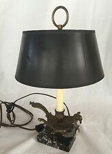 Vintage Phoenix Bird Lamp Brass Marble Electric Table Top Light Unique