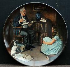 "Sammelteller - Zierteller Edwin Knowles by Norman Rockwell "" The Storyteller "" !"