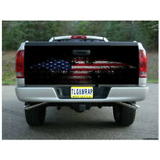 T30 American Eagle Flag V2 Tailgate Wrap Vinyl Graphic Decal Sticker LAMINATED