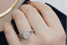 Vintage Two Tone Gold Finish 1.80 Ct Round Lab Diamond Engagement Wedding Ring